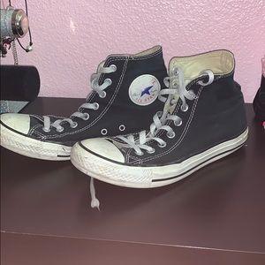 Worn Black Hightop Converse